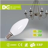 3WC30C37全玻璃乳白LED蜡烛灯泡