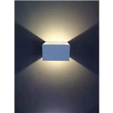小圆盒筒形LED简约双向壁灯 现代明亮简洁设计风格 简欧小型墙壁泛光灯 铝材灯体上下发光 厂家OEM