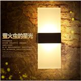小型简约亚克力壁灯 COB科锐LED创意 现代卧室床头墙壁灯 12W节能时尚休闲款 厂家直销招经销