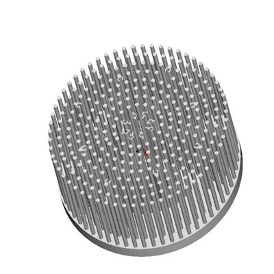 东莞捷大 纯铝冷锻散热器 工矿灯散热器 大功率LED散热器 筒灯 轨道灯 JT-P0001