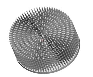 东莞捷大 纯铝冷段散热器 大功率散热器 工矿灯扇热器 JT-F0002