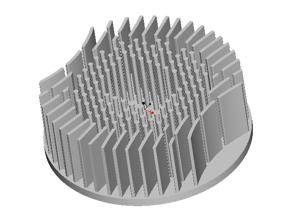 东莞捷大 纯铝冷段散热器 大功率LED散热器 工矿灯 轨道灯 JT0003