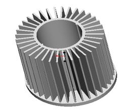 东莞捷大 纯铝冷锻散热器 工矿灯散热器 大功率LED散热器 筒灯 轨道灯 JT0004