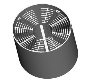 东莞捷大 纯铝冷锻散热器 工矿灯散热器 大功率LED散热器 筒灯 轨道灯 JT0005