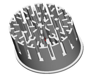 东莞捷大 纯铝冷锻散热器 工矿灯散热器 大功率LED散热器 筒灯 轨道灯 JT0006