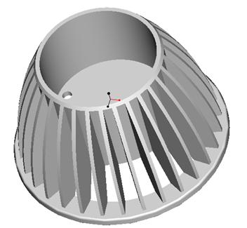 东莞捷大 纯铝冷段散热器 大功率LED散热器 工矿灯 球灯 轨道灯 射灯 JT-0007