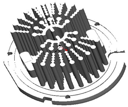 东莞捷大 纯铝冷段散热器 大功率LED散热器 工矿灯 球灯 轨道灯 射灯 JT-0009