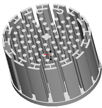 东莞捷大 纯铝冷段散热器 大功率LED散热器 工矿灯 球灯 轨道灯 射灯 JT-0014