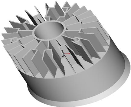 东莞捷大 纯铝冷段散热器 大功率LED散热器 工矿灯 球灯 轨道灯 射灯 JT-0016
