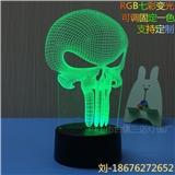 创意的3D台灯 RGBq七彩变光 支持定制LOGO 卧室小夜灯礼品灯可送家人朋友 专业出口
