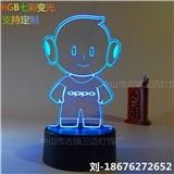 定制款的3D台灯 RGB七彩变光 USB接口 卧室床头灯 展厅礼品灯送朋友家人 支持定制