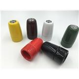 厂家直销 高档 E27陶瓷灯头灯座 彩色自锁灯头 彩色釉面可定制 品质保证 出口欧洲