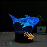 led创意的3D台灯 USB触摸调光 支持图案定制 卧室小夜灯礼品灯 可送恋人 朋友 家人