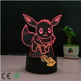 3D台灯 USB接口 温馨小夜灯 创意的礼品灯可送恋人 朋友 支持定制图案或公司LOGO