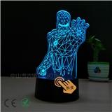 钢铁侠02款的3D台灯 USB接口 触摸七彩调光 支持定制LOGO 厂家直销 专业出口