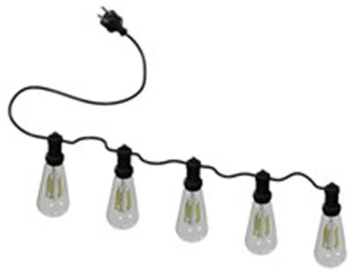 户外广场庭院灯串10头灯串多头防水插头IP44总长10米