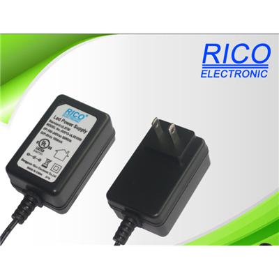 供应12-15W欧.美.英.澳规电源适配器.LED灯饰户内电源.充电器认证齐全RICO