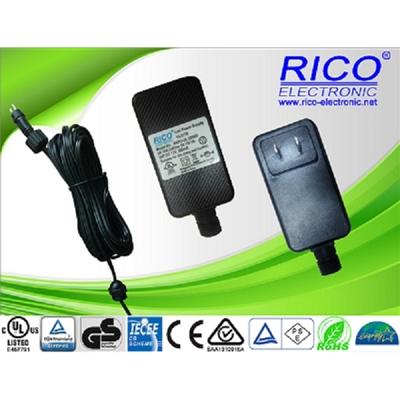 供应12W美.欧.英.澳插墙式防水电源 LED灯饰驱动电源 防水变压器.认证齐全RICO