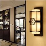 新中式壁灯禅意中国风客厅卧室床头仿古设计师酒店工程过道墙灯