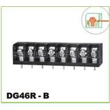 高正 美式黑色 栅栏式接线端子 9.5间距 中脚弯针带靠背 DG46R-B