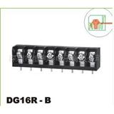 高正 美式黑色 栅栏式接线端子 6.35间距 中脚弯针带靠背 DG16R-B