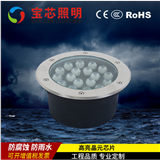LED地埋灯3W6W9W12W15W18W24W36W 嵌入式户外防水埋地灯照树射灯