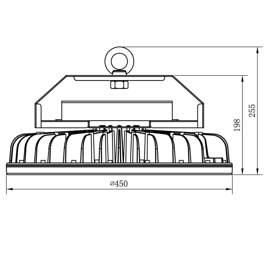 所含配件:镁合金压铸一体散热器,方形电源盒 (明纬圆形hbg转接板,梯形