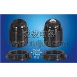 E27-D03 电木 锁线式 全牙 欧规 灯头 灯座