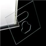2mm透明正方形钢化玻璃插座面板