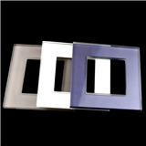 4mm背部蓝色丝印正方形中空超白开关用玻璃面板