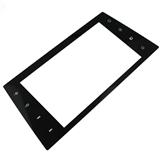 2mm厚黑色丝印汽车屏幕用超白玻璃面板