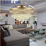 风之光 奢华 圆形水晶球隐形吊扇灯 餐厅客厅卧室风扇灯 带电扇的家用电风扇 LED吊灯 L8736