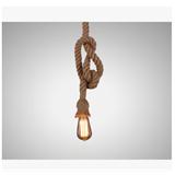 个性创意麻绳吊灯 咖啡厅吊灯酒吧风格美式乡村手工编制吊灯
