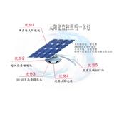 太阳能监控照明一体灯