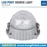 高档水晶棱边大功率LED点光源_5W大功率点光源