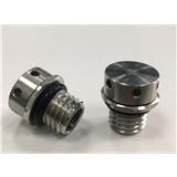 M12x1.75不锈钢灯具呼吸器 防水透气阀 金属呼吸器 金属透气阀 IP68/IP69k