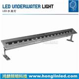 LED条形水底灯,1米水下洗墙灯,不锈钢条形灯