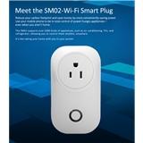 外贸热销品 Alexa语音控制 支持远程定时 功率计量 wifi美规插座