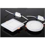 超薄筒灯现货新款LED双色面板灯红色绿色蓝色平面可分段面板灯