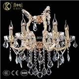 奥奇灯饰水晶夹片吊灯 客厅餐厅房间水晶蜡烛吊灯国产一级K9水晶灯