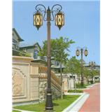 威牌路灯压铸铝庭院灯厂家直销欧式拉坑铁杆双头庭院灯
