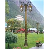 威牌路灯庭院灯厂家直销压铸铝经典+字花纹双头庭院灯