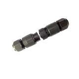 3芯螺丝压接式防水接头快速卡口式防水连接器工业防水公母接头