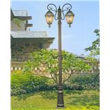 威牌路灯庭院灯厂家直销条纹椭圆双头庭院灯