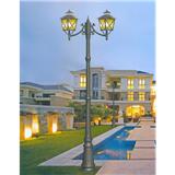 威牌路灯庭院灯厂家直销X花纹双头欧式拉坑杆庭院灯