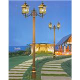威牌路灯庭院灯厂家直销方形X花纹双头拉坑杆庭院灯