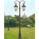 威牌路灯庭院灯厂家直销双头欧式复古怀旧拉坑杆庭院灯