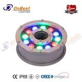 多色LED 18X3w LED 水底灯喷泉灯