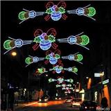 道路亮化 跨街灯 节日亮化灯 路灯两边挂灯 步行街亮化灯饰 平面跨街灯 中国结编制造型
