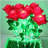 插地LED玫瑰花灯 LED户外防水七彩玫瑰花灯 厂家直销花灯